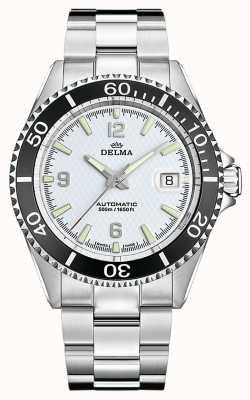 Delma Santiago automatisch | roestvrijstalen armband | witte wijzerplaat 41701.560.6.014