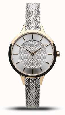 Bering Dames klassiek | gepolijst goud | zilveren mesh armband 17831-010