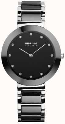 Bering Keramiek voor dames | zwarte keramische armband | zwarte wijzerplaat 11434-742