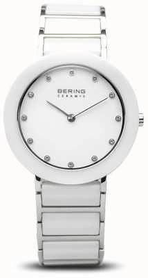 Bering Keramiek voor dames | witte keramische armband | witte wijzerplaat 11434-754