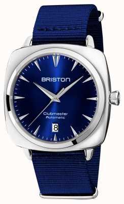 Briston Clubmaster iconische auto | blauwe nato band | blauwe wijzerplaat 19640.PS.I.9.NNB