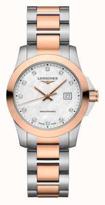 Longines | veroveringsklassieker | vrouwen | Zwitsers kwarts | twee toon L33763887