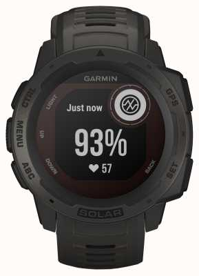 Garmin Instinct solar gps grafiet rubberen band 010-02293-00