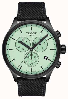 Tissot Heren | chrono xl | groene wijzerplaat | zwarte stoffen band T1166173709100
