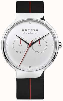 Bering Max rené | zwarte rubberen band | zilveren wijzerplaat 15542-404