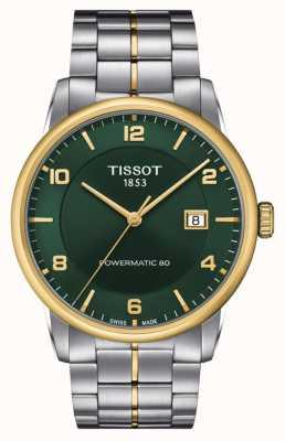 Tissot Luxe powermatic 80 | groene wijzerplaat | roestvrij stalen armband T0864072209700