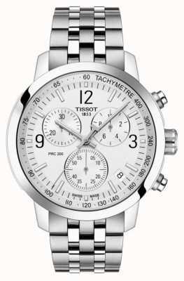 Tissot Prc 200 | chronograaf | witte wijzerplaat | roestvrij staal T1144171103700