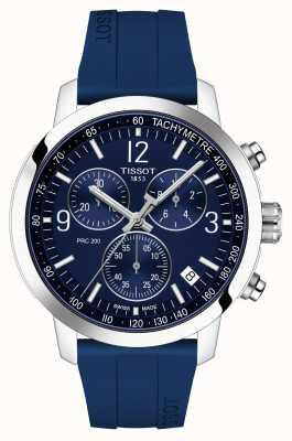 Tissot Prc 200 | chronograaf | blauwe wijzerplaat | blauwe rubberen band T1144171704700