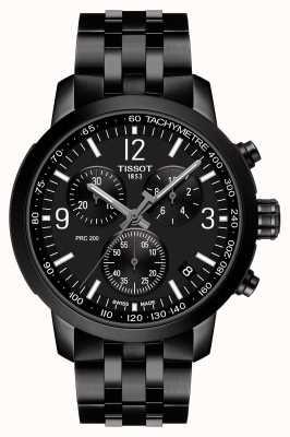 Tissot Prc 200 | chronograaf | zwarte wijzerplaat | zwart pvd-staal T1144173305700