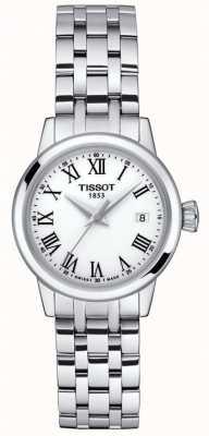 Tissot Dames   klassieke droom   witte wijzerplaat   roestvrij staal T1292101101300