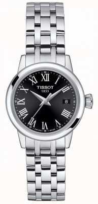 Tissot Dames   klassieke droom   zwarte wijzerplaat   roestvrij staal T1292101105300