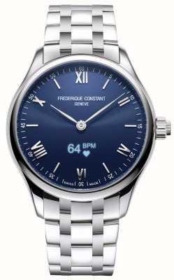 Frederique Constant Heren | vitaliteit | smartwatch | blauwe wijzerplaat | roestvrij staal FC-287N5B6B