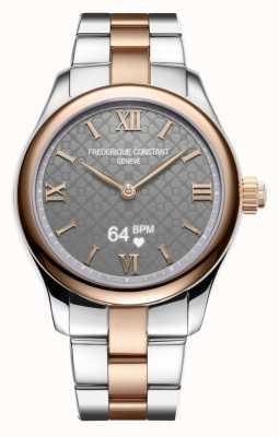 Frederique Constant Dames   vitaliteit   smartwatch   grijze wijzerplaat   twee toon FC-286BG3B2B