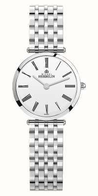 Michel Herbelin | vrouwen | epsilon | roestvrijstalen armband | witte wijzerplaat | 17116/B01N
