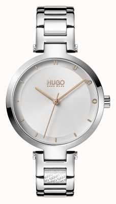 HUGO Dames #hoop casual | zilveren wijzerplaat | roestvrij stalen armband 1540076