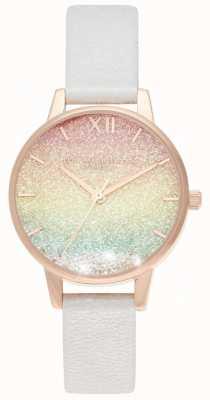 Olivia Burton Rainbow glitter wenshorloge midi wijzerplaat OB16EX228