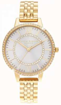 Olivia Burton Wonderland blush demi wijzerplaat gouden horloge OB16WD90