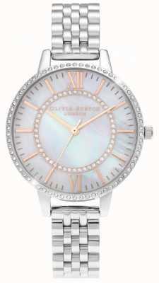 Olivia Burton Wonderland parelmoer gedemonteerd zilveren horloge OB16WD91