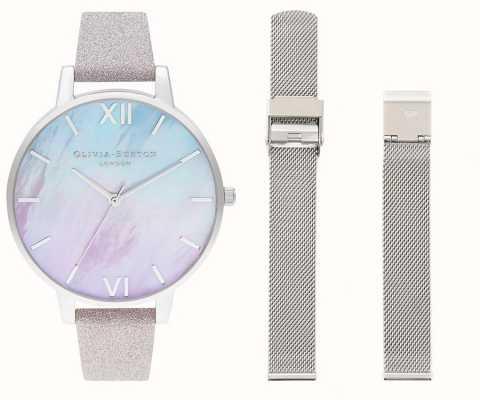 Olivia Burton Ombre-horloge met parelmoer wijzerplaat OBGSET143