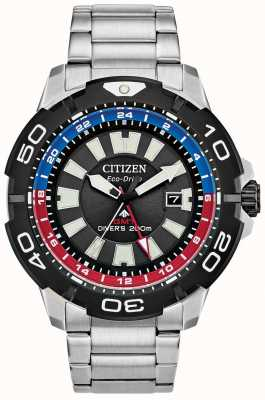 Citizen Promaster Diver GMT | roestvrijstalen zwarte wijzerplaat | blauw en rood accent BJ7128-59E