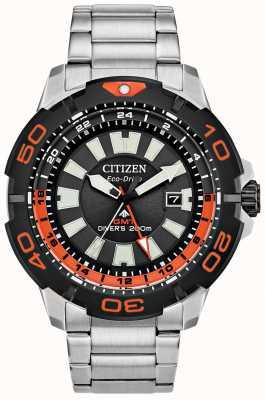 Citizen Promaster Diver GMT | roestvrij staal | zwarte wijzerplaat | oranje accent BJ7129-56E