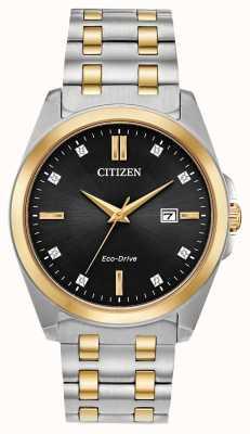 Citizen Eco-drive tweekleurig herenhorloge met corso diamanten BM7107-50E