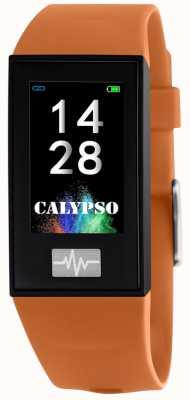 Calypso Unisex | smartime | oranje siliconen band + gratis band K8500/3