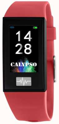 Calypso Unisex | smartime | rode siliconen band + gratis riem K8500/4