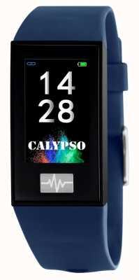 Calypso Unisex | smartime | blauwe siliconen band + gratis band K8500/5