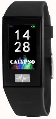 Calypso Unisex | smartime | zwarte siliconen band + gratis riem K8500/6
