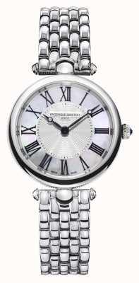 Frederique Constant Dames art déco | roestvrijstalen armband | parelmoer FC-200MPW2AR6B