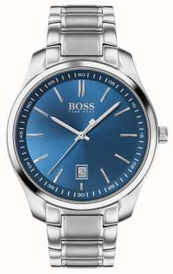 BOSS Circuit sport lux | roestvrijstalen armband | blauwe wijzerplaat 1513731