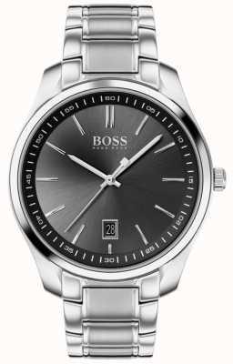 BOSS Circuit sport lux | roestvrijstalen armband | zwarte wijzerplaat 1513730