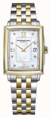 Raymond Weil Toccata voor dames | tweekleurige stalen armband | diamanten wijzerplaat 5925-STP-00995