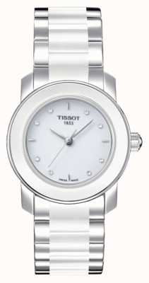 Tissot Cera dameshorloge van 28 mm met diamanten T0642102201600