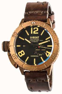 U-Boat Sommerso 46 bronzen automatisch bruin lederen band 8486