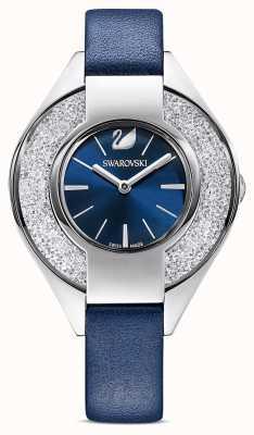 Swarovski Kristallijn sportief | blauwe leren band | blauwe wijzerplaat 5547629