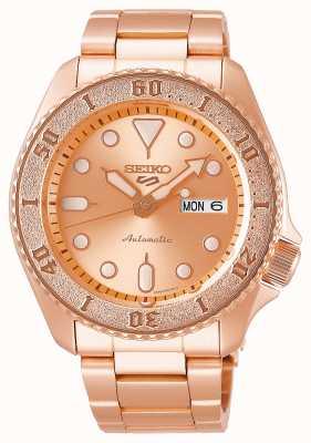 Seiko Rose-goud | heren | automatisch | sporten | armband SRPE72K1
