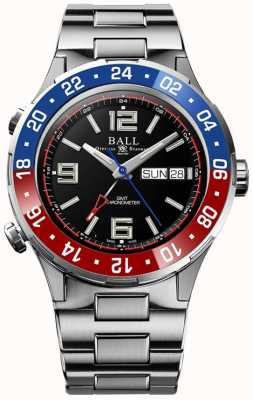 Ball Watch Company Roadmaster marine gmt   ltd editie   automatisch   zwarte wijzerplaat DG3030B-S4C-BK