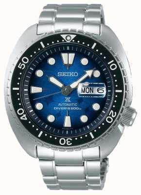 Seiko Mannen redden de oceaan | roestvrijstalen armband | blauwe wijzerplaat SRPE39K1