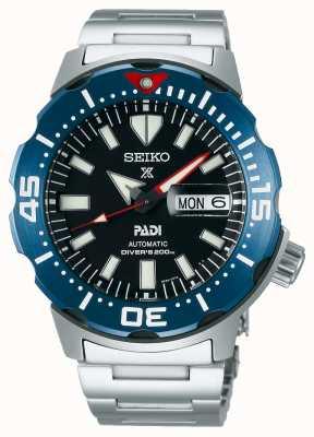 Seiko Prospex voor heren | padi | roestvrijstalen armband | zwarte wijzerplaat SRPE27K1