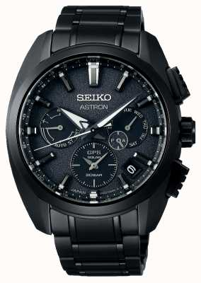 Seiko Astron | zwarte wijzerplaat | zwart titanium | gps | chronograaf SSH069J1