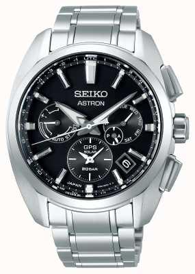 Seiko Astron | titanium | zonne | zwarte wijzerplaat | chronograaf SSH067J1