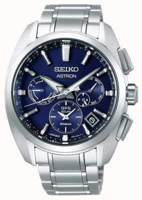 Seiko Astron | titanium | heren | zonne | blauwe wijzerplaat | kijk maar SSH065J1
