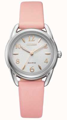 Citizen Dames silhouet eco-drive roze leren horloge FE1210-07A