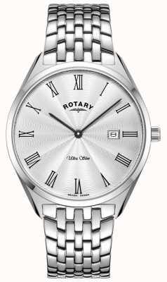 Rotary Ultraslank horloge van zilverkleurig roestvrij staal GB08010/01