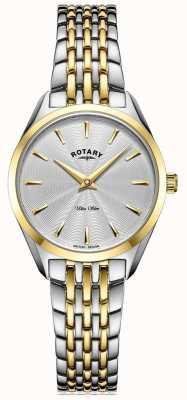 Rotary Ultraslank tweekleurig dames armbandhorloge LB08011/02