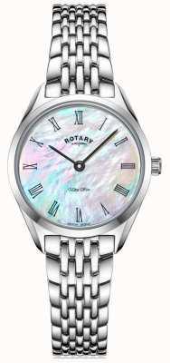 Rotary Ultraslank zilveren dames armbandhorloge LB08010/41