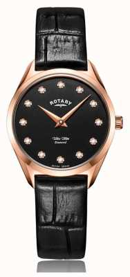 Rotary Ultraslank roségoud diamanten dameshorloge LS08014/04/D