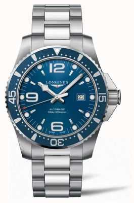 Longines Hydroconquest 44 mm automatische duiker blauwe wijzerplaat L38414966